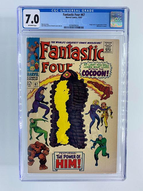 Fantastic Four #67  CGC 7.0 FN/VF