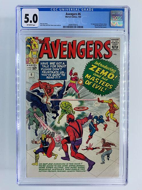 Avengers #6 5.0 VG/FN Very Good/Fine