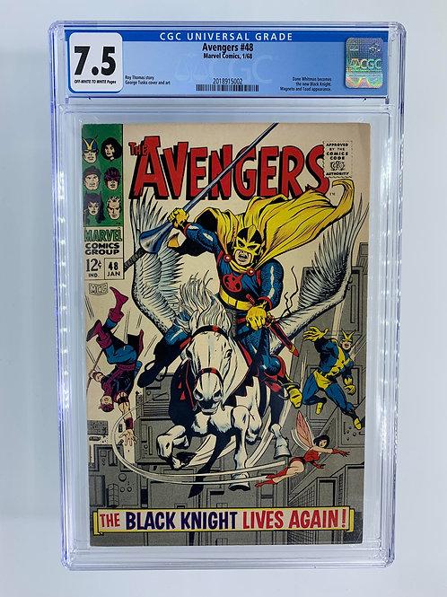 Avengers #48 CGC 7.5 VF- Very Fine-