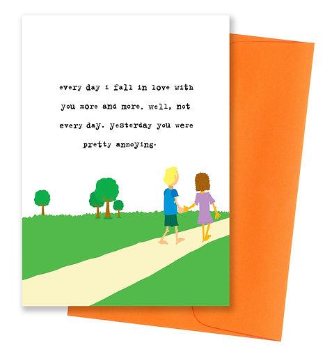 You were annoying - Love Card