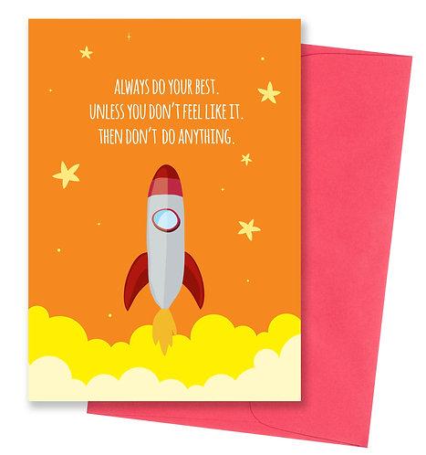 Rocket - Uninspirational Card