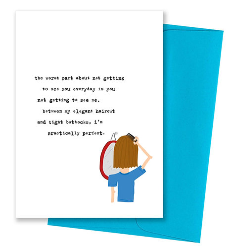 Tight buttocks - Miss You Card