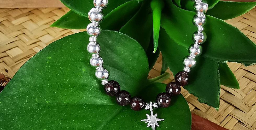 Bracelet hématites et pierres minérales