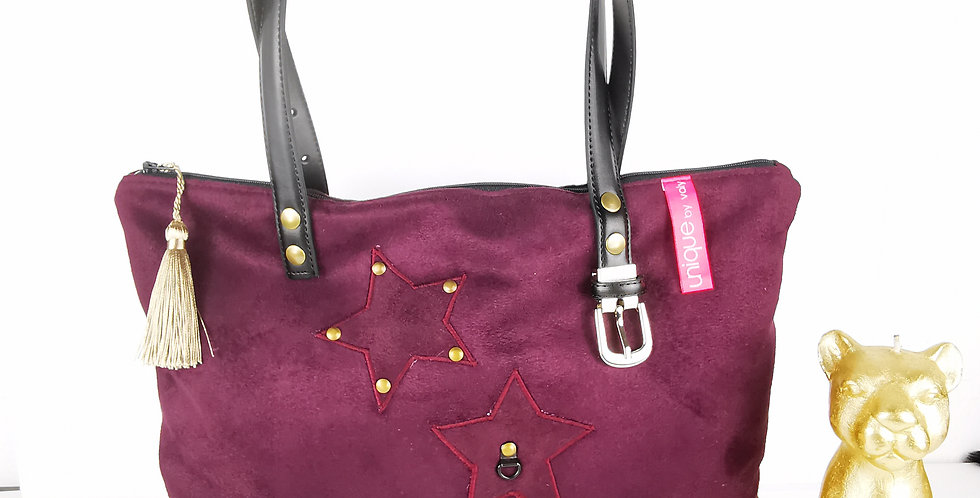 Sac zippé Modèle Delphine PURPLE AND ROCK