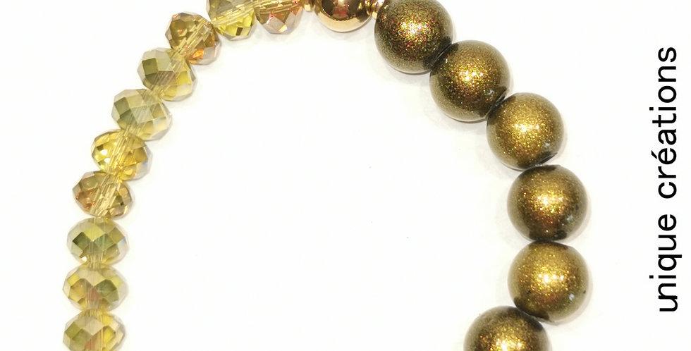 Bracelet fantaisie cristal, nacre