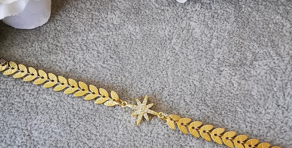 Bracelet étoiles en zirconium blanc