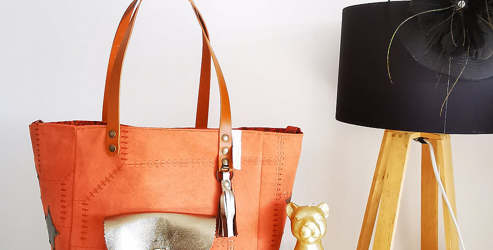 """Sac cabas Valy, collection """"Patchwork Vintage"""""""