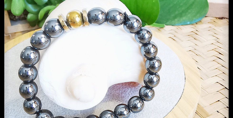 Bracelet femme en Hématites