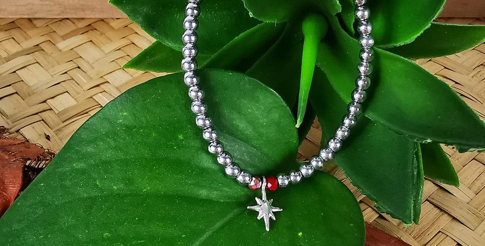 Bracelet HEMATITES et perles en cristal