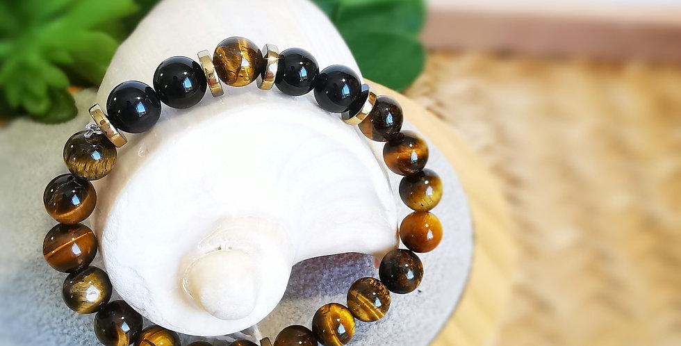 Bracelet femme en pierres Oeil de tigre