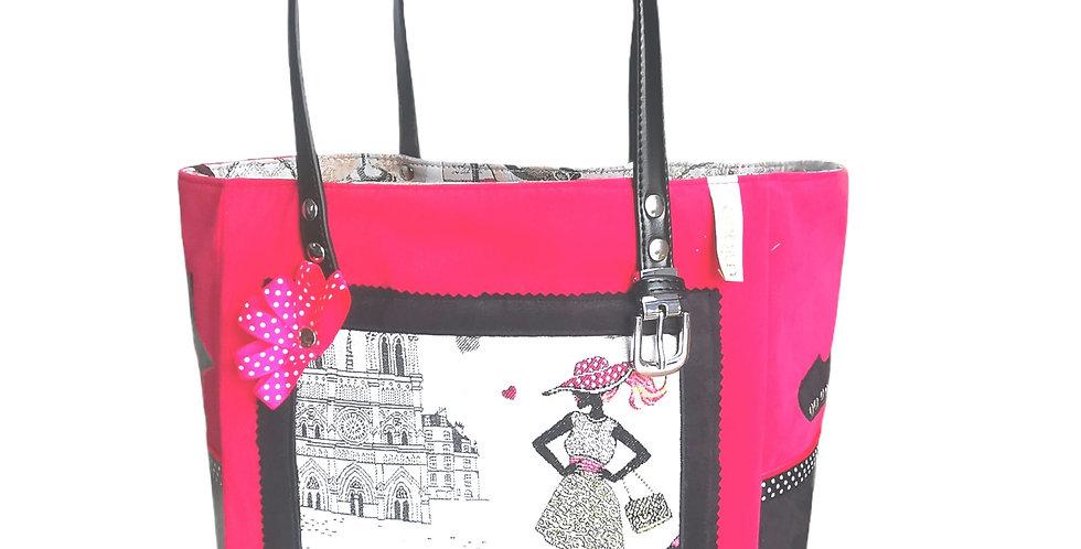 """Sac cabas, modèle Valy, collection """"Les Parisiennes"""""""