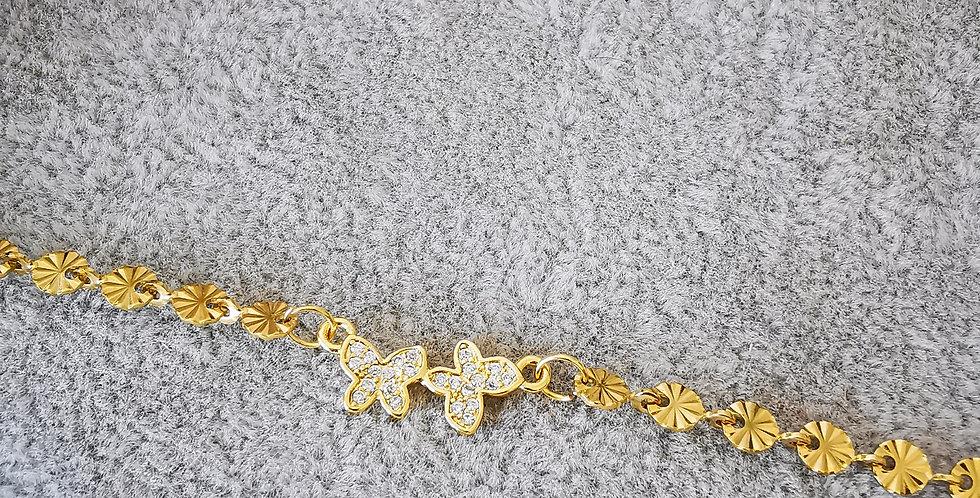Bracelet papillons zirconium blanc