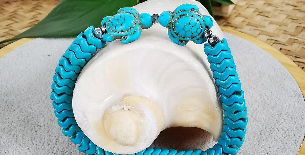 Bracelet hématites et turquoises