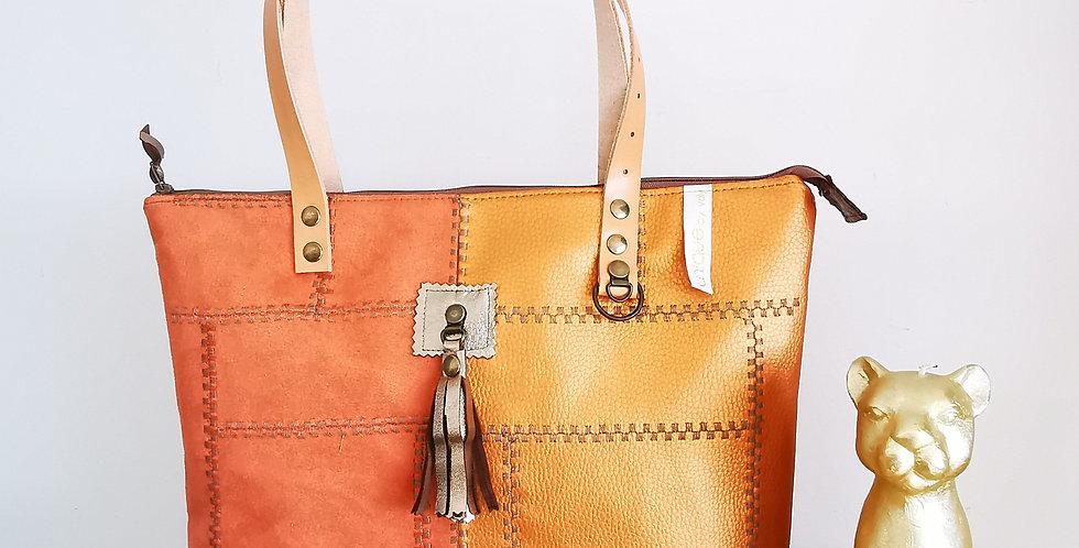 """Sac zippé, modèle Delphine, collection """"Patchwork Vintage"""""""