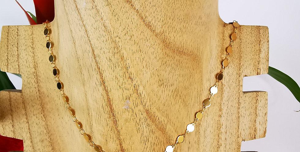 Chaîne sequin dorée