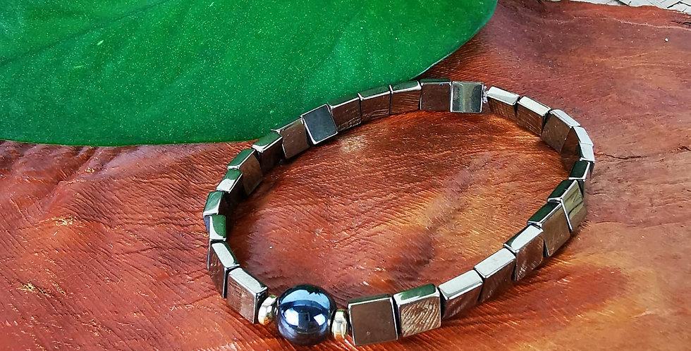 Bracelet HEMATITES MULTICOLORES
