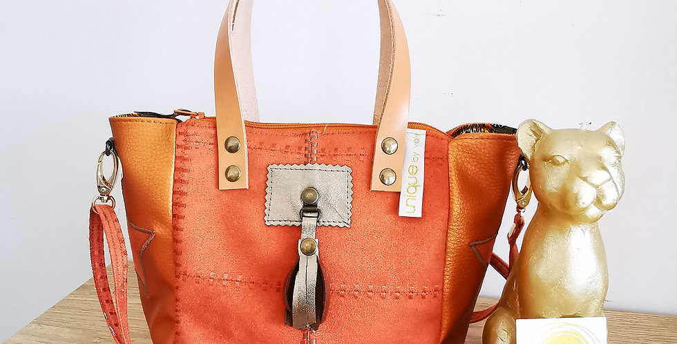 """Mini sac cabas Valy, collection """"Patchwork Vintage"""""""