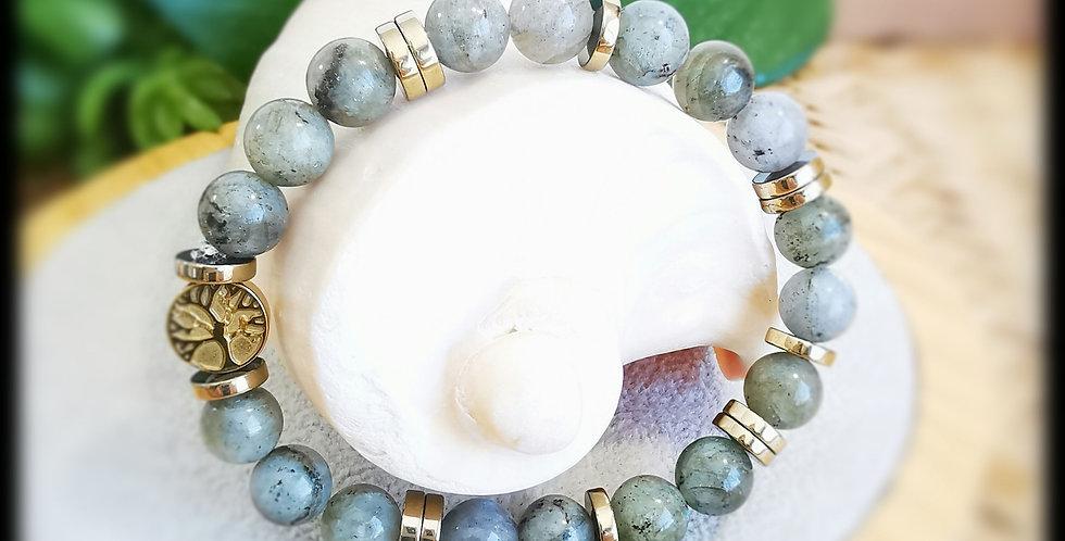 Bracelet femme en pierres de Labradorite