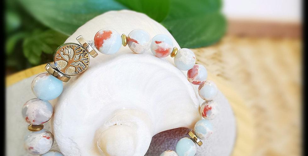 Bracelet, femme , en pierre de Jaspe Impérial