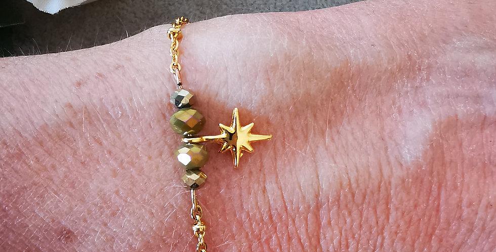 Bracelet chaîne en acier inoxydable doré