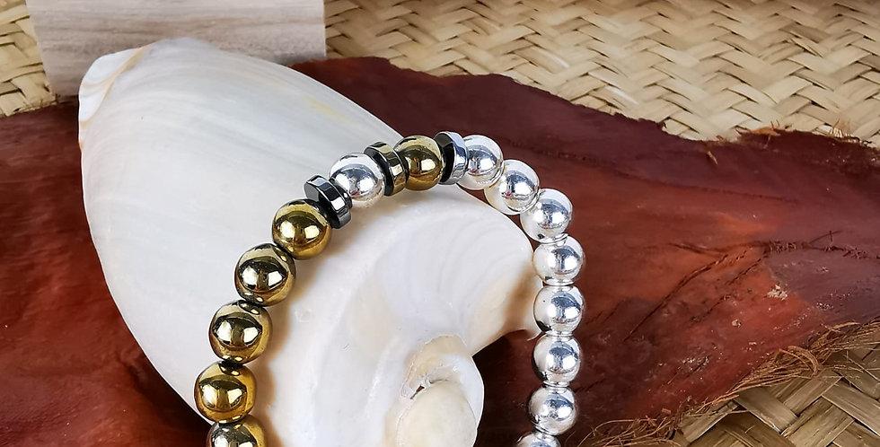 Bracelet femme en hématites.
