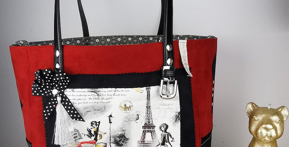 """Sac cabas réversible, collection """"Les Parisiennes"""", Miss Lily"""