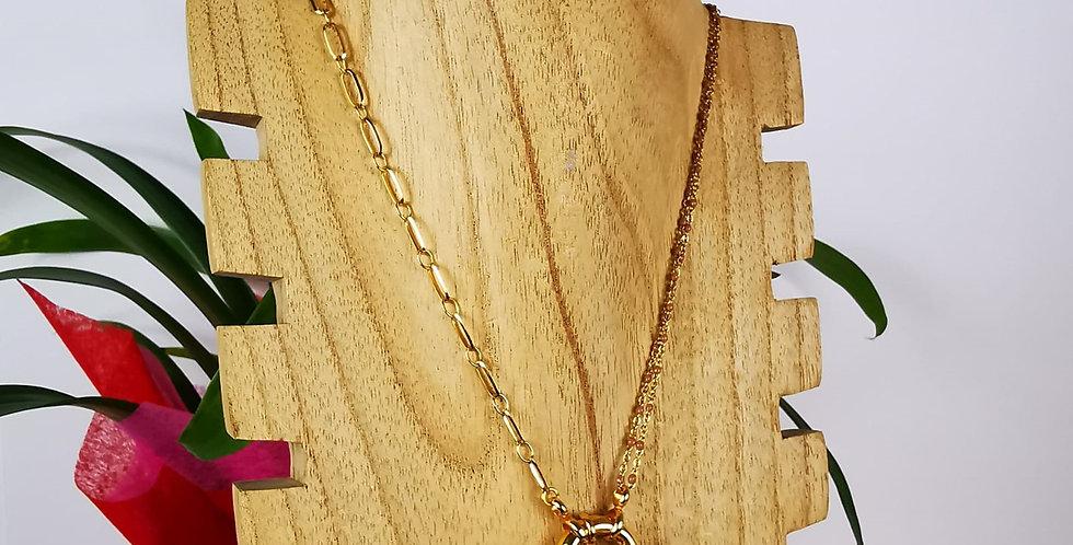 Collier en acier inoxydable doré