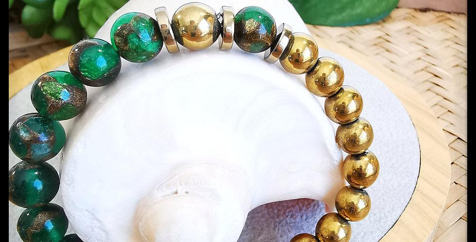 Bracelet femme en Quartz Émeraude