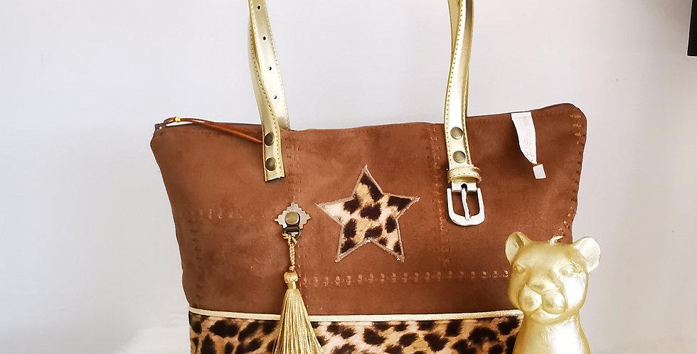 """Sac zippé, modèle Delphine, collection """"Safari Vintage *"""