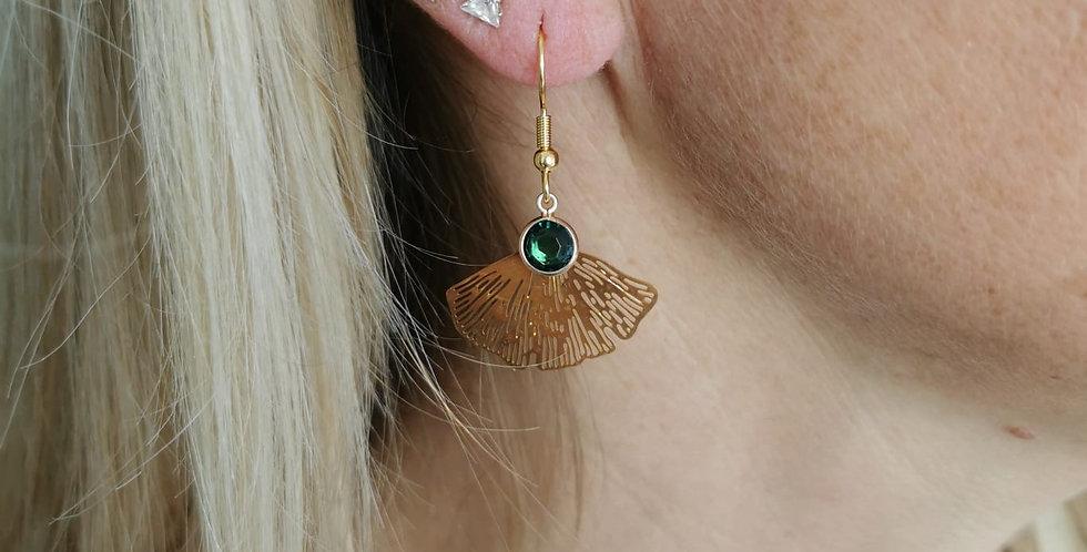 Boucles d'oreille fantaisie perles et médailles