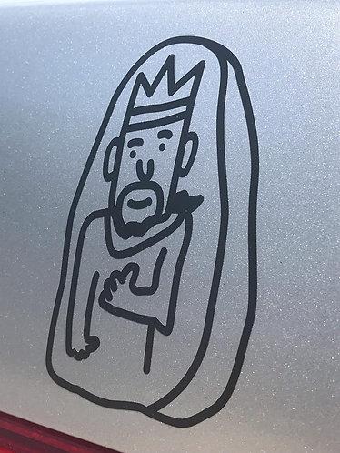 Rock King transfer sticker