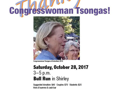 1st Middlesex Democrats Fall Event - Thank You Congresswoman Tsongas