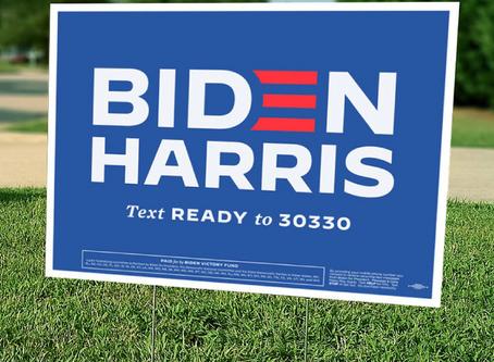 Biden-Harris Signs - Limited Supply