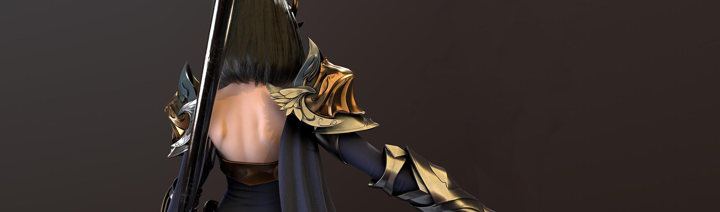 Female knight by Yuzhou Hu 04
