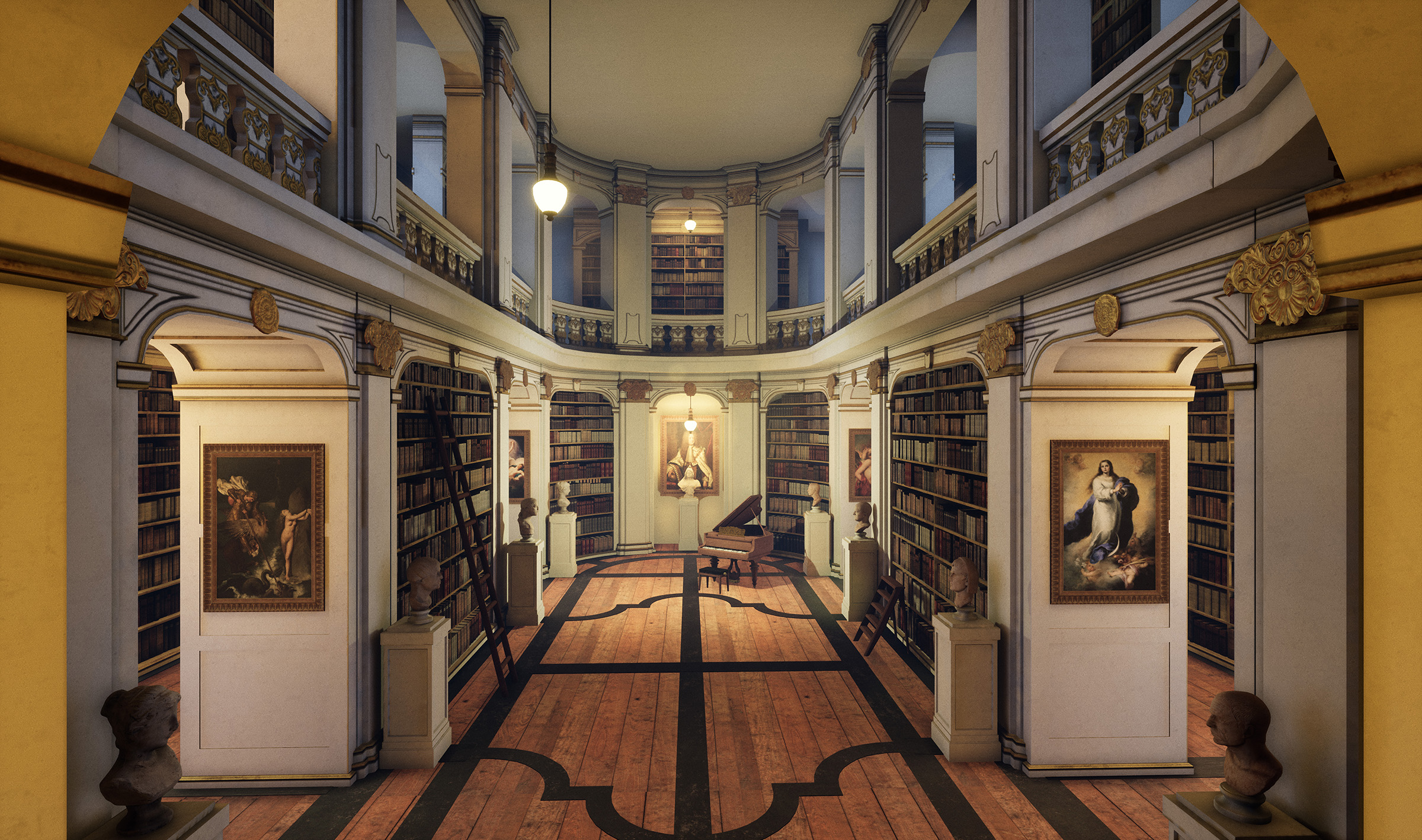 Art library by Mengyue Wang Sen Yang