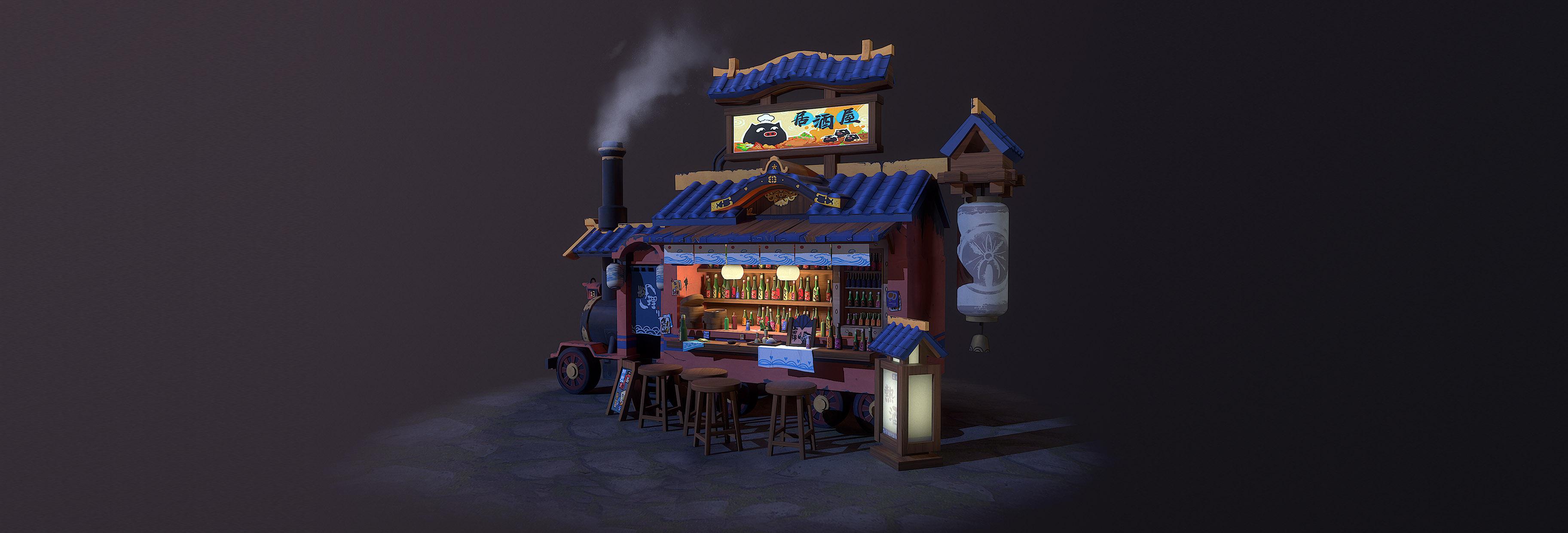 Train tavern by Jielin Shen