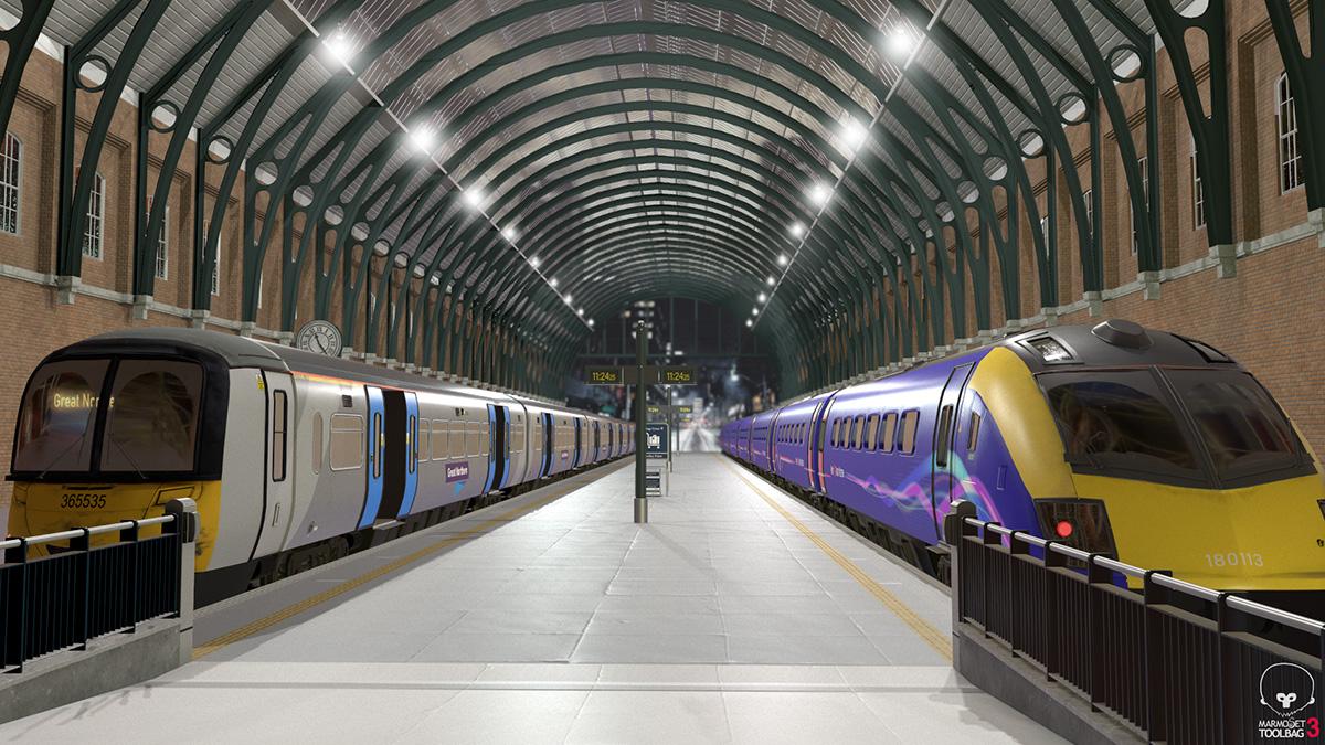 Train station by Chuwei Shu