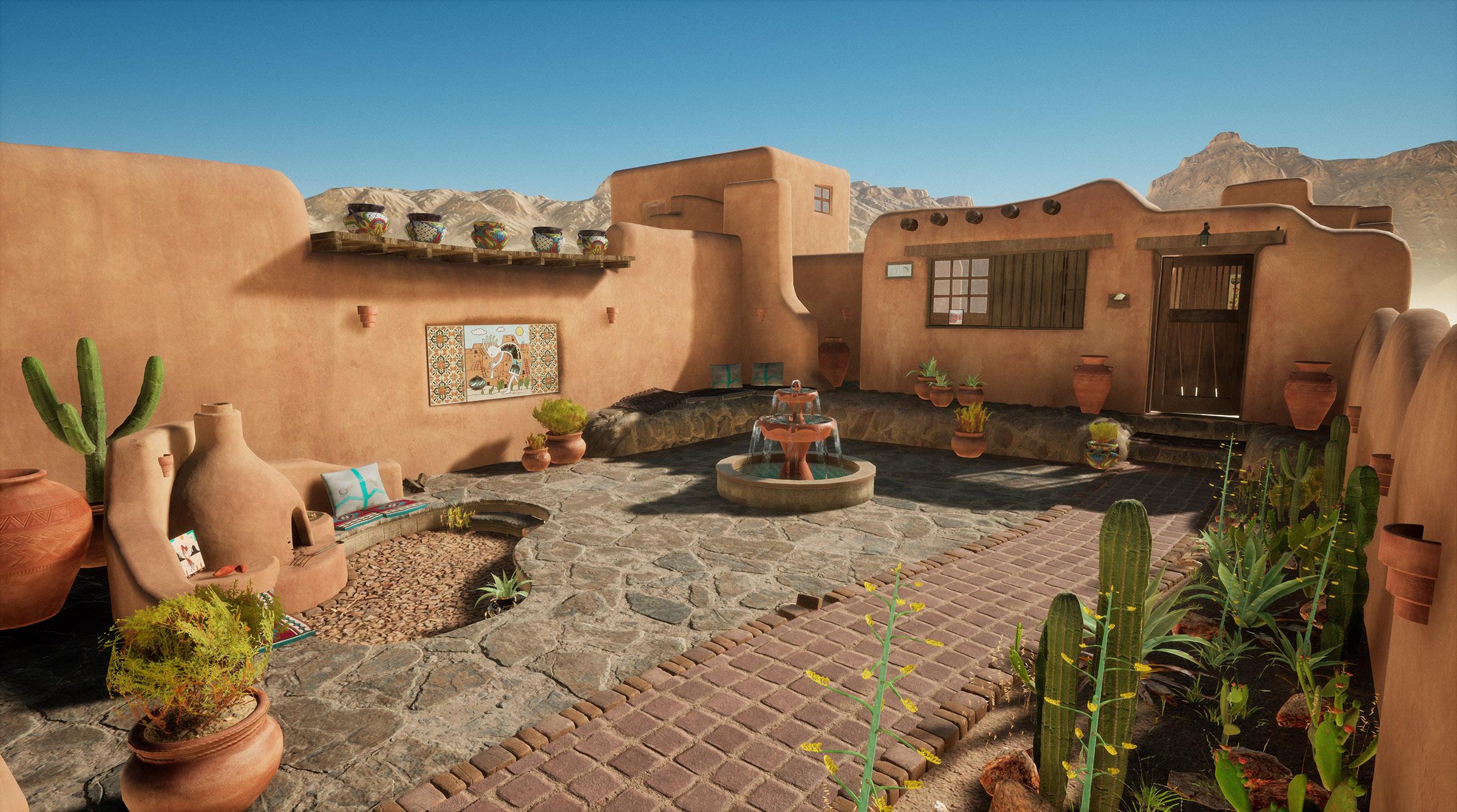 Desert house by Zhen Zhang