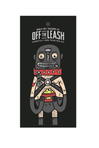 """Off the Leash Sticker 2""""x4"""", Set of 3"""