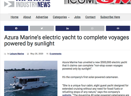 We're featured in Marine Industry News!