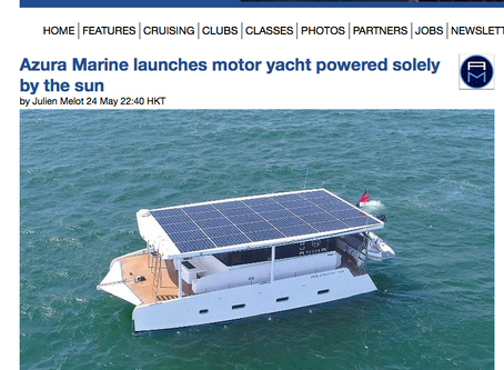 Sail World features Azura Marine.  Did you know we can add a rig and sails to our yachts?