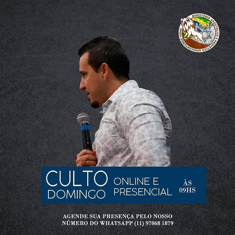 CULTO ONLINE E PRESENCIAL