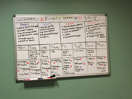 Final Exams - overwhelmed or organized?
