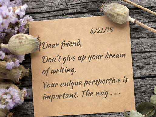 An open letter to a discouraged writer