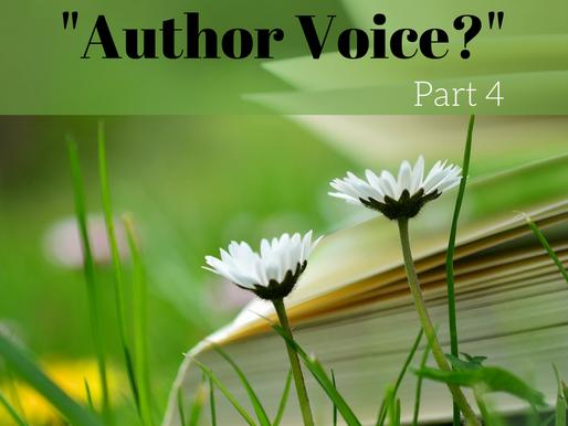 Author Voice, part four