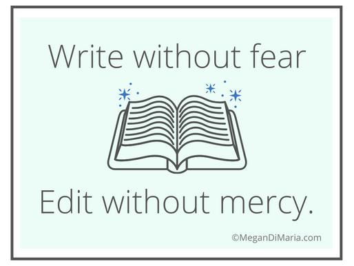 Editing, editing, editing.