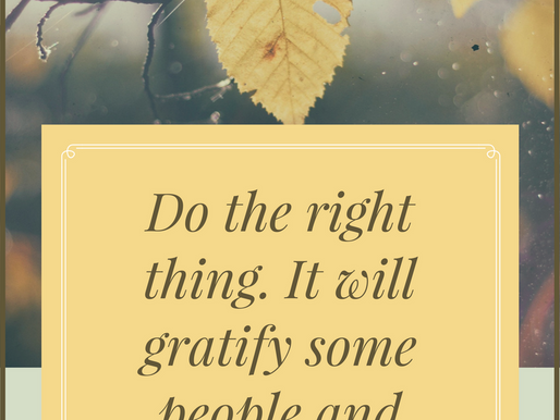 Why you should do the right thing!