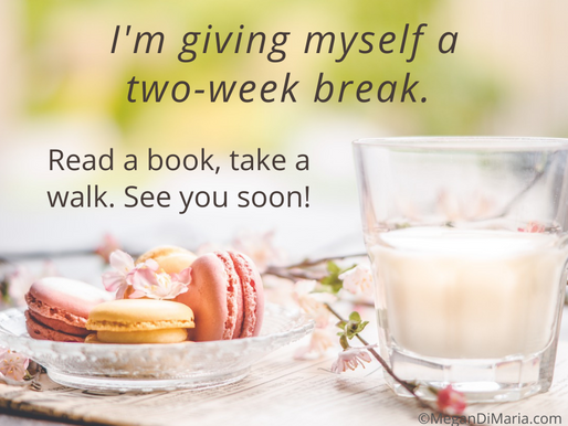 It's break time (and what I'm reading!)