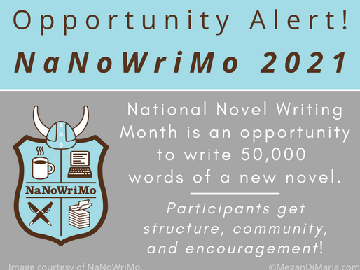 Get ready for National Novel Writing Month!
