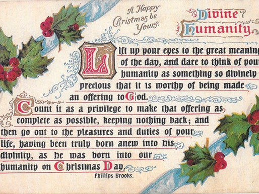 A precious Christmas thought -- Divine Humanity!